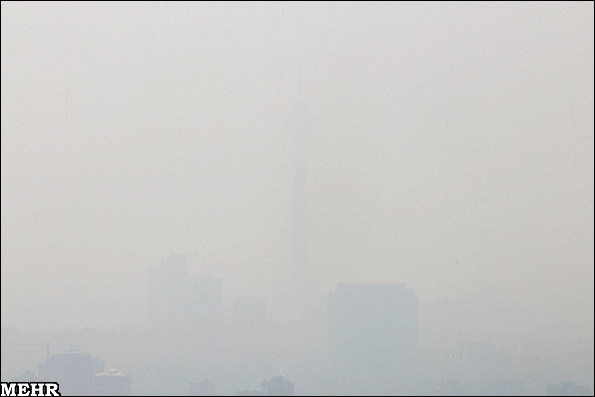 گزارش تصویری و عکسهایی از آلودگی هوا در تهران