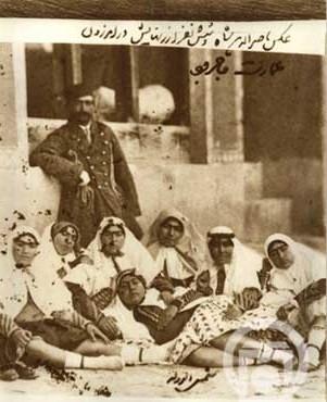 ناصرالدین شاه و 6زنش!( عكس)