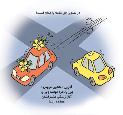 رايجترين خطاهاي رانندگي - کاریکاتور