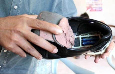 باطری انفجاری کار گذاشته شده در کفش