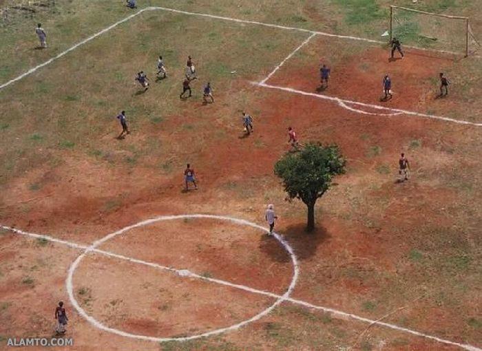 خنده دار : زمين فوتبال استاندارد ديدي ؟